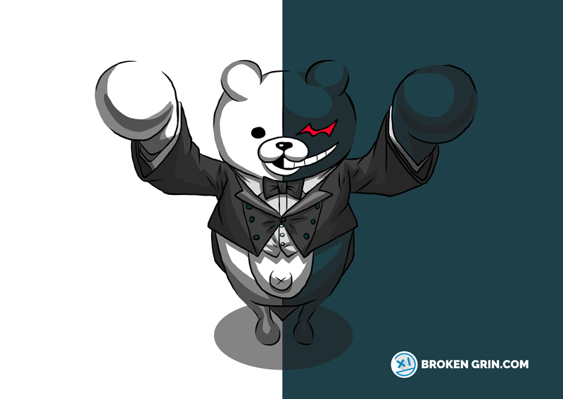 Danganronpa Pop Art - Featuring Monokuma