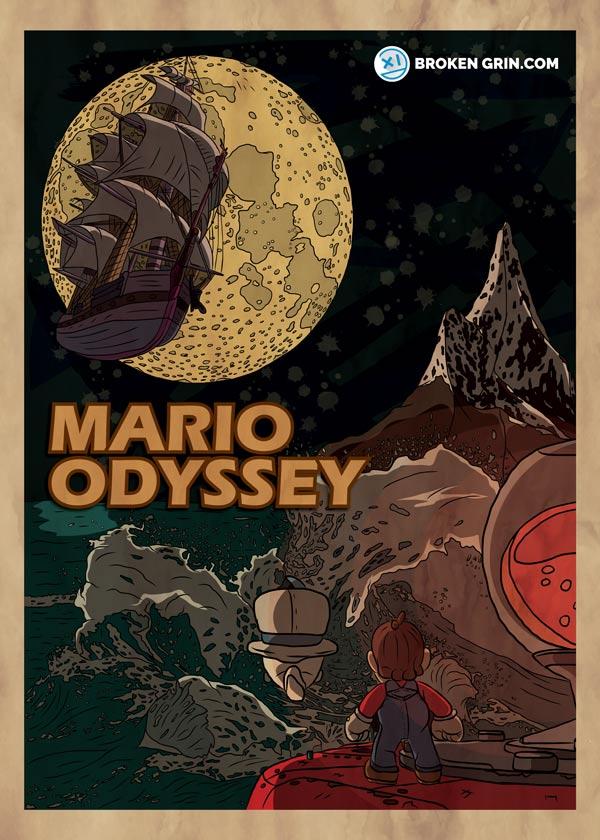 Mario Odyssey Made Retro Broken Grin