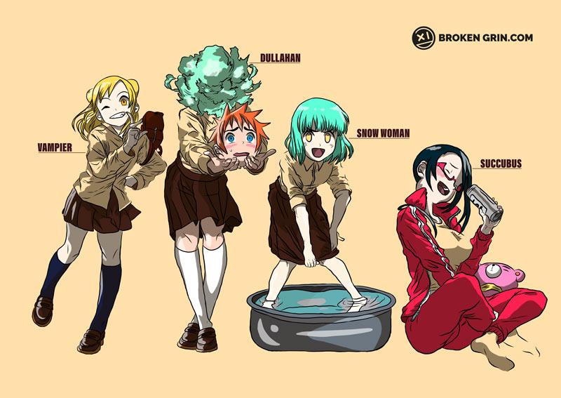 Interviews With Monster Girls - Featuring: Hikari, Kyoko, Yuki and Sakie