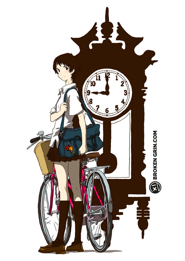 The Girl Who Leapt Through Time Pop Art - Featuring Makoto Konno and a Grandfather clock… BECAUSE TIME!