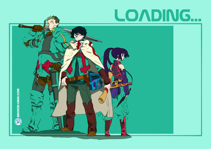 Log Horizon Pop Art - Featuring: Shiroe, Naotsugu and little Akatsuki