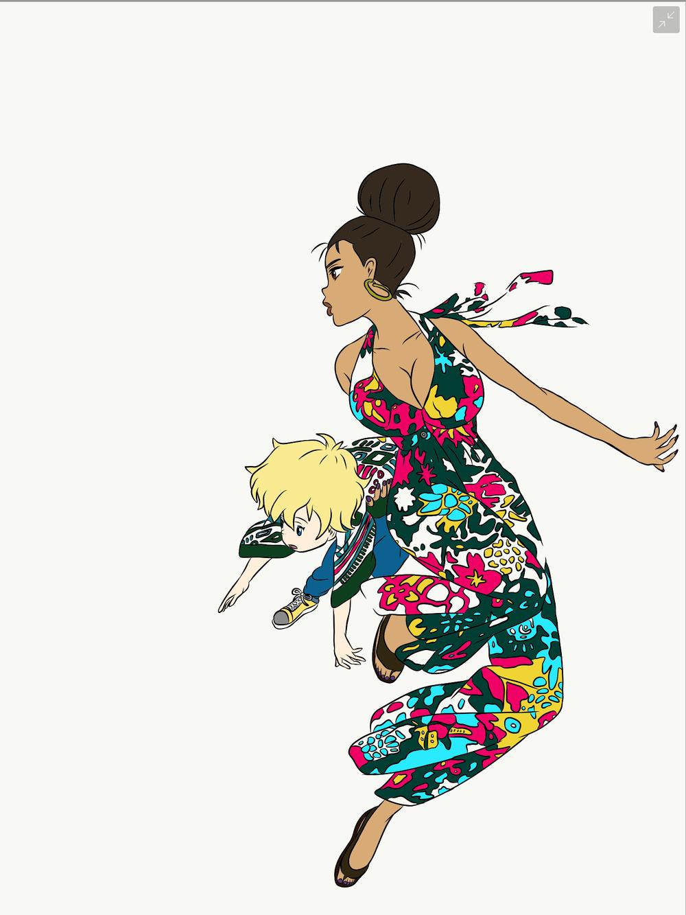 michiko-and-hatchin-pop-art-process-image-2.png