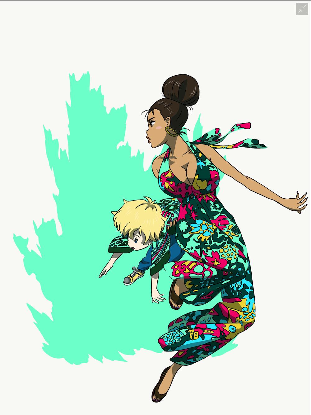 michiko-and-hatchin-pop-art-process-image-4.png
