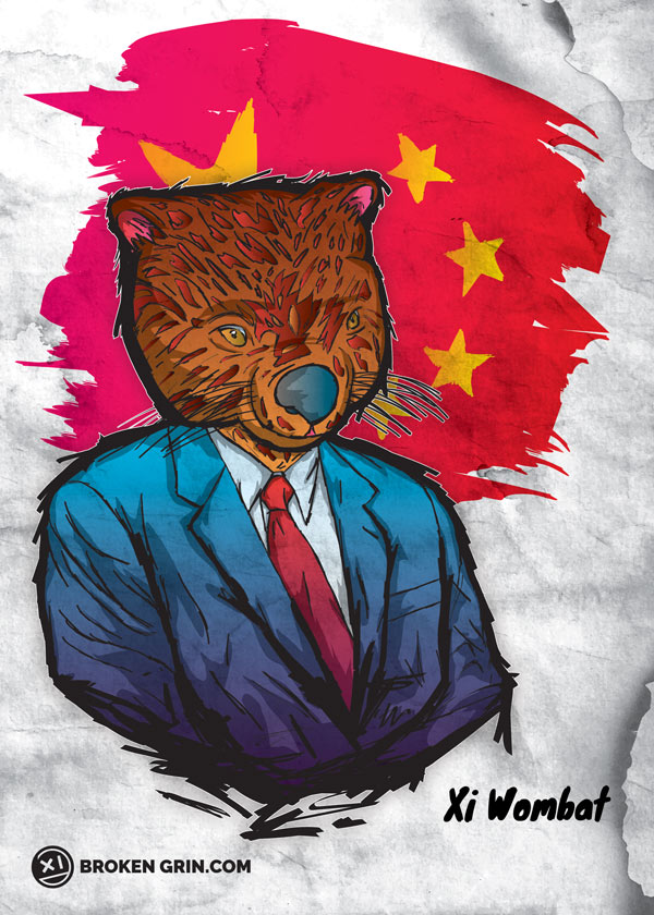 Xi Wombat - I made this simple because Think Xi Jinping looks more like a wombat then Winnie the Pooh