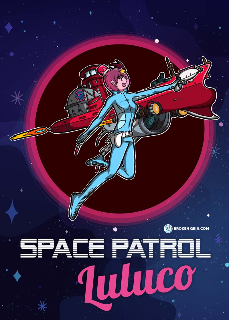 Space Patrol Luluco Anime Art - Featuring: Luluco