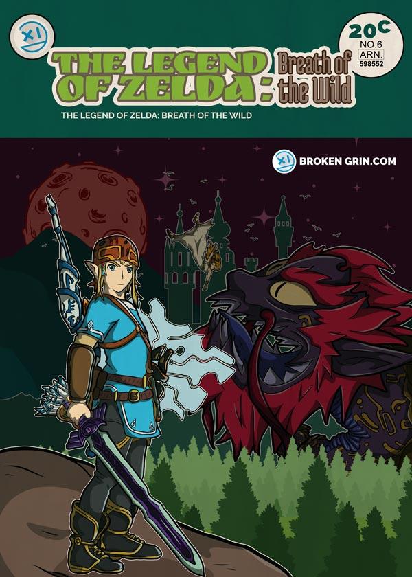 The Legend of Zelda Breath Of the Wild Retro Art -