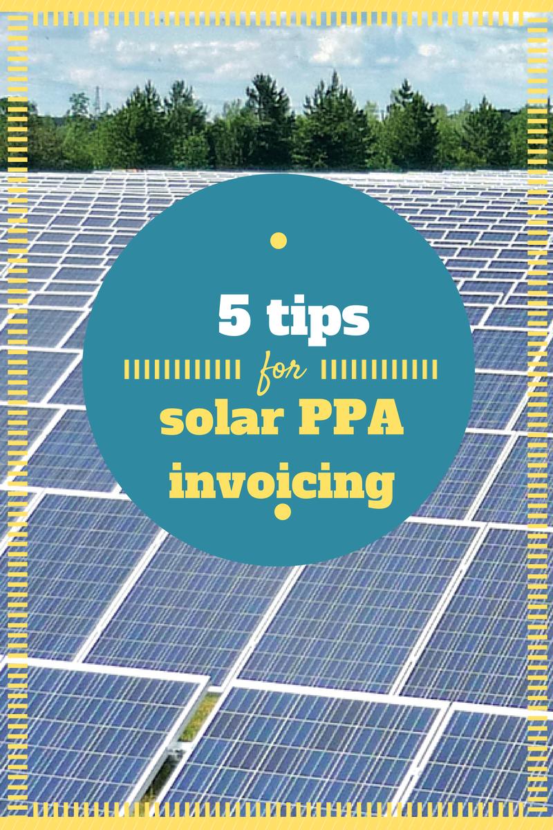 solar ppa invoicing
