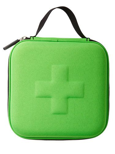 Find a first aid kit for pain relief amongst handy items.