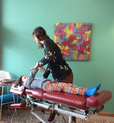Muscle testing is a diagnostic tool Sarena uses to adjust both children and adults
