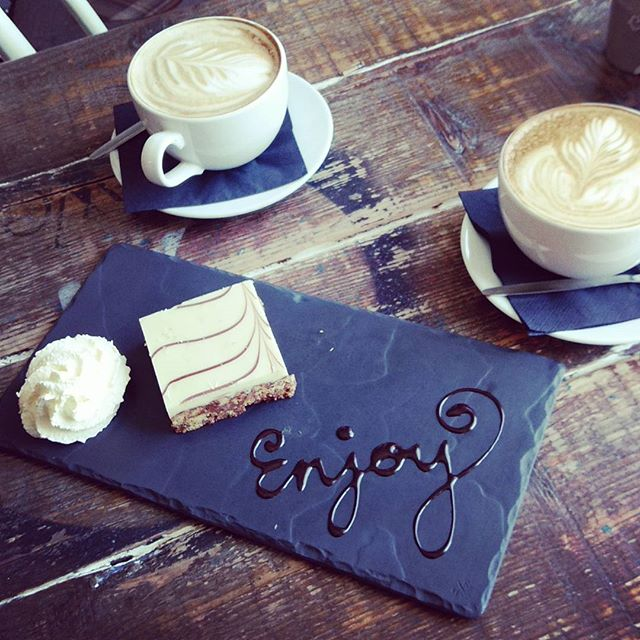 Treat yourself on Thursday with our beautiful white chocolate slice! #somethingsweet #Thursday #treat #yummy!