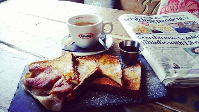 Breakfast is ready😍#breakfast #goals #frenchtoast #coffee #bristotireland #37west #galway #goodmorning