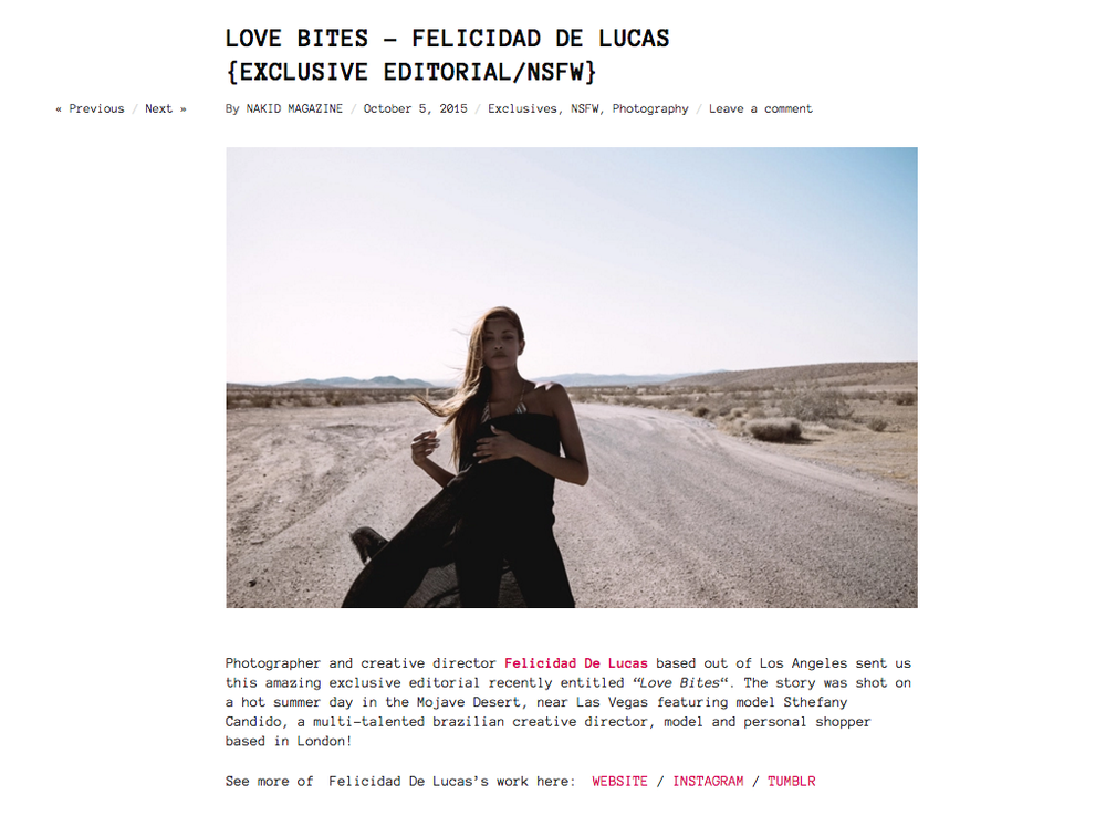 Love Bites - Editorial - NAKID magazine