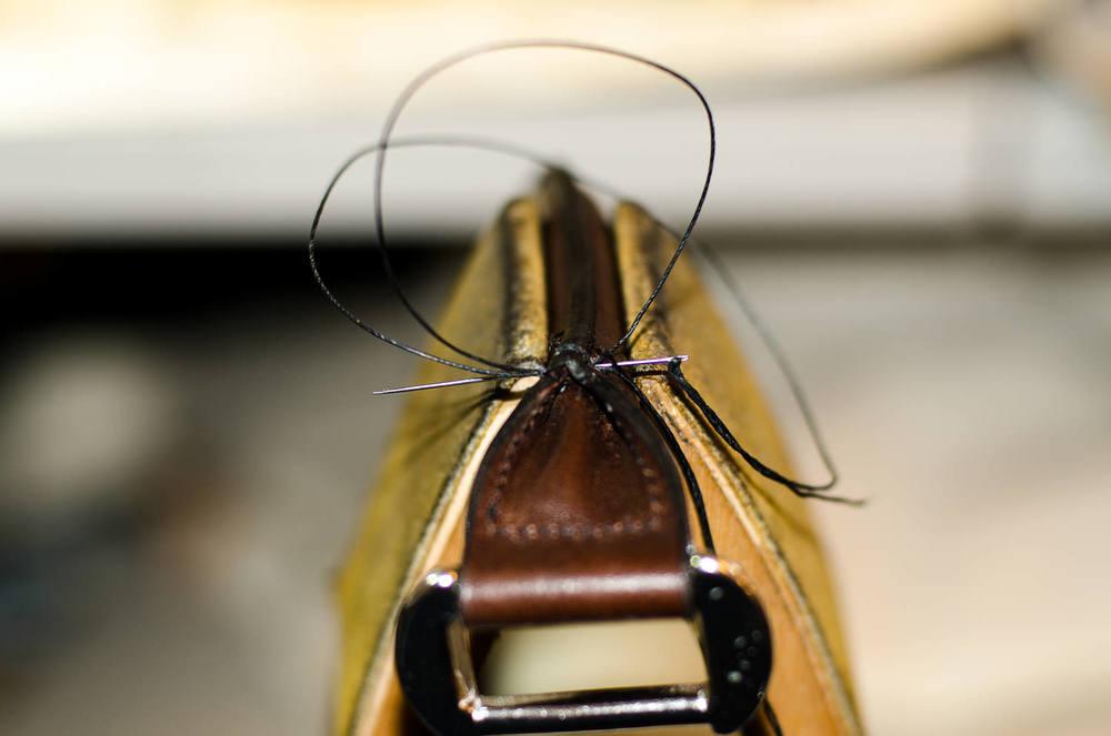 Stitching handle