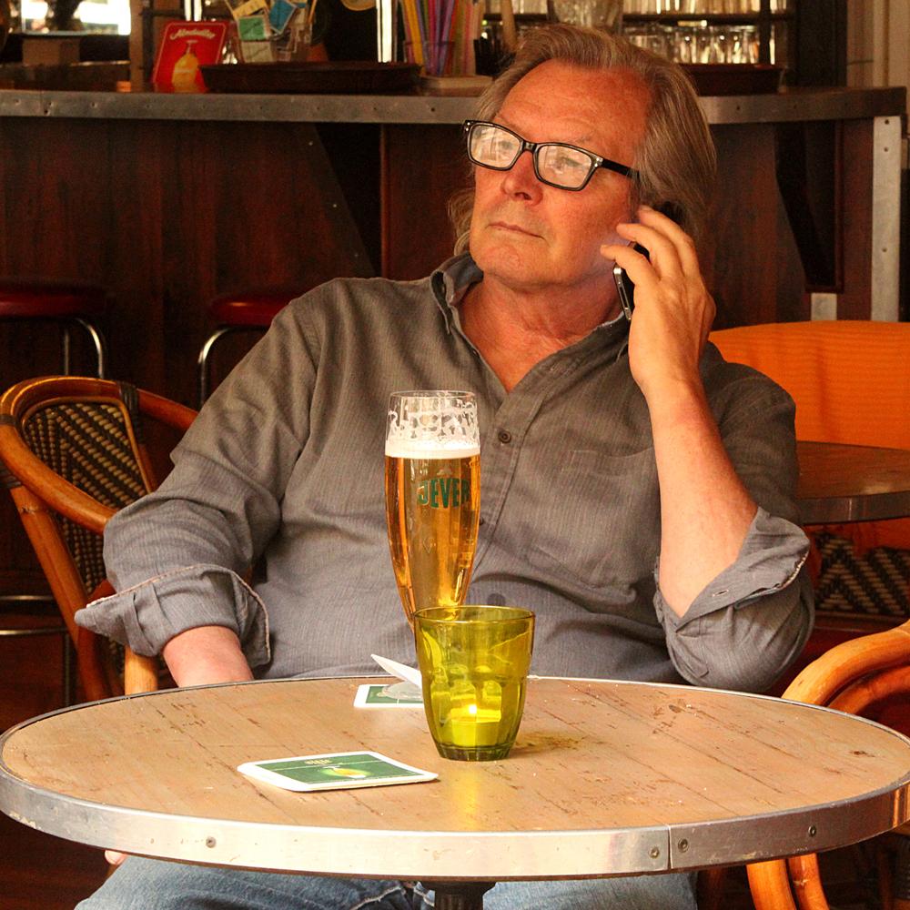 Having a beer in Akazienstraße,Schöneberg, Berlin