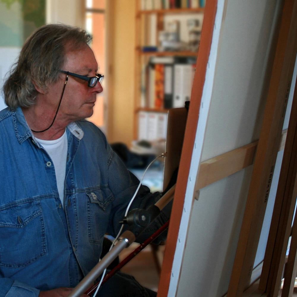 At my studio in Mallorca