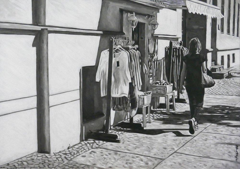 Oranienburger Straße    Acryl auf Leinwand 120 x 90 cm