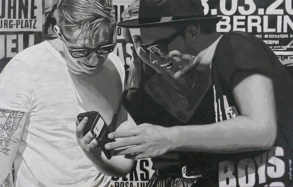 Warschauer Straße    Acryl auf Leinwand 120 x 90 cm