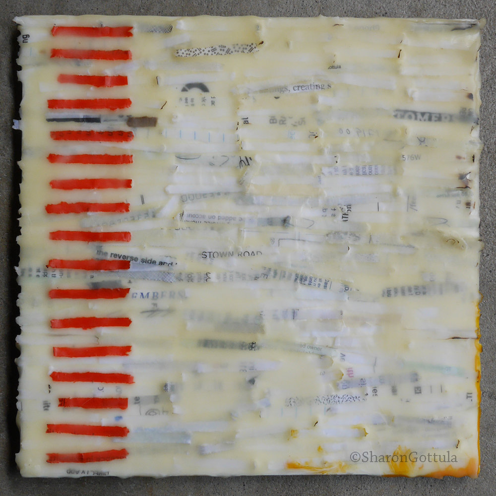Encaustic exploration #1 Security