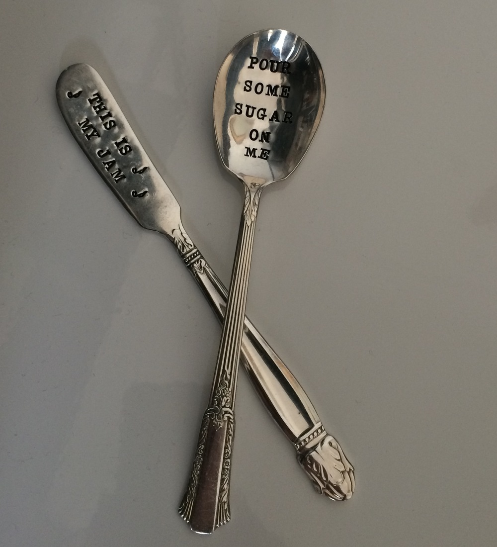Who doesn't like a bit of Def Leppard in the morning? We love our silverware from the fantastic shop For Such A Time Designs.