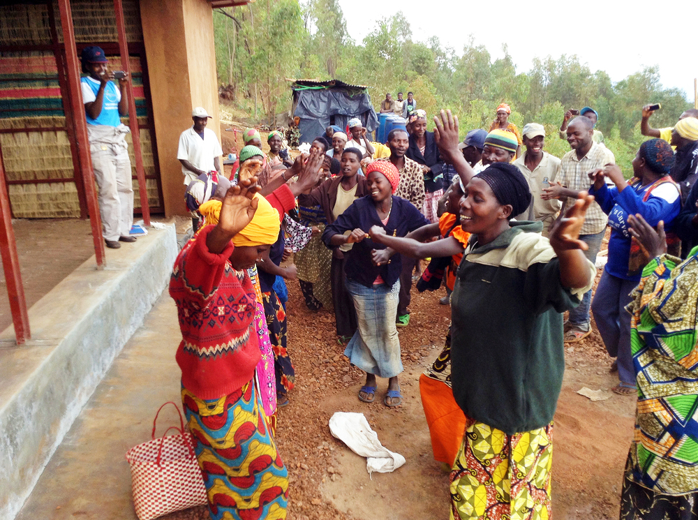 Masoro villagers meet to form the new Association Icyerekezo, a building cooperative focused on expanding the Masoro Village Project with 50+ homes.