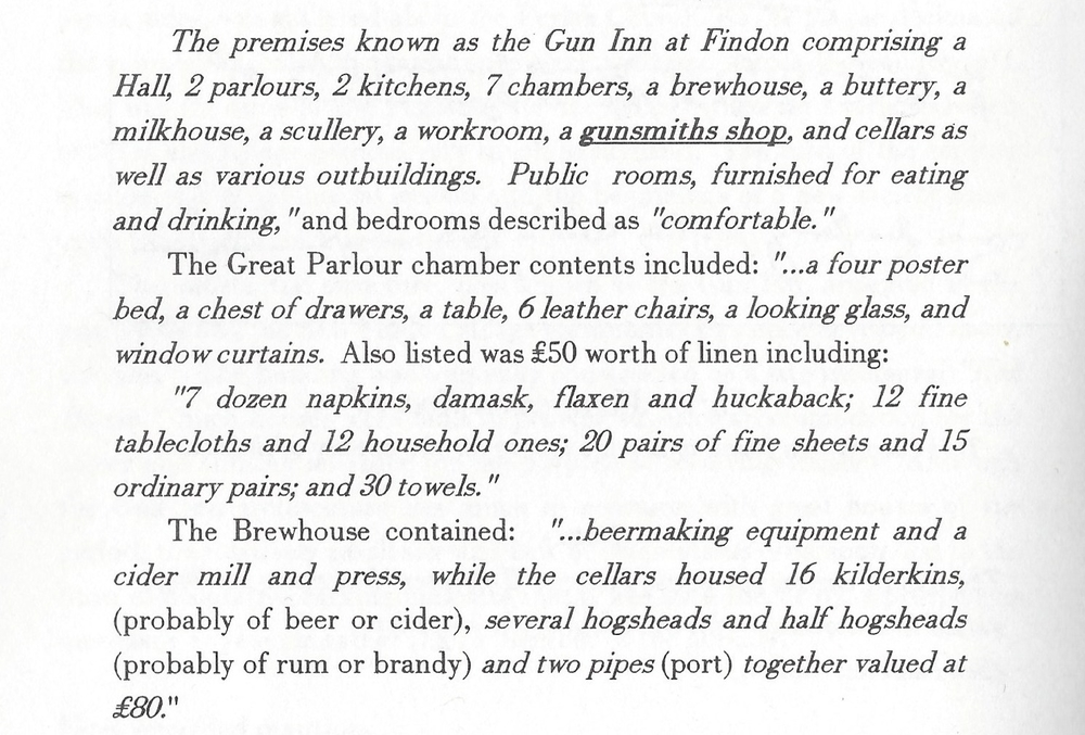 Image scanned from 'The Gun Inn At Findon'' by Ian Mallender, IMPRINT, Worthing, 2000.