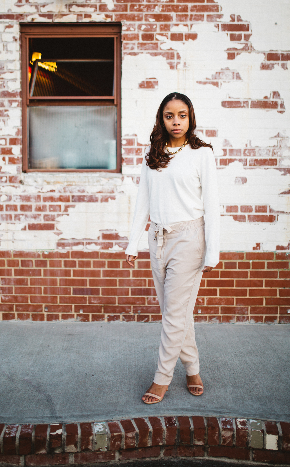 Professional, urban portrait in Durham, NC