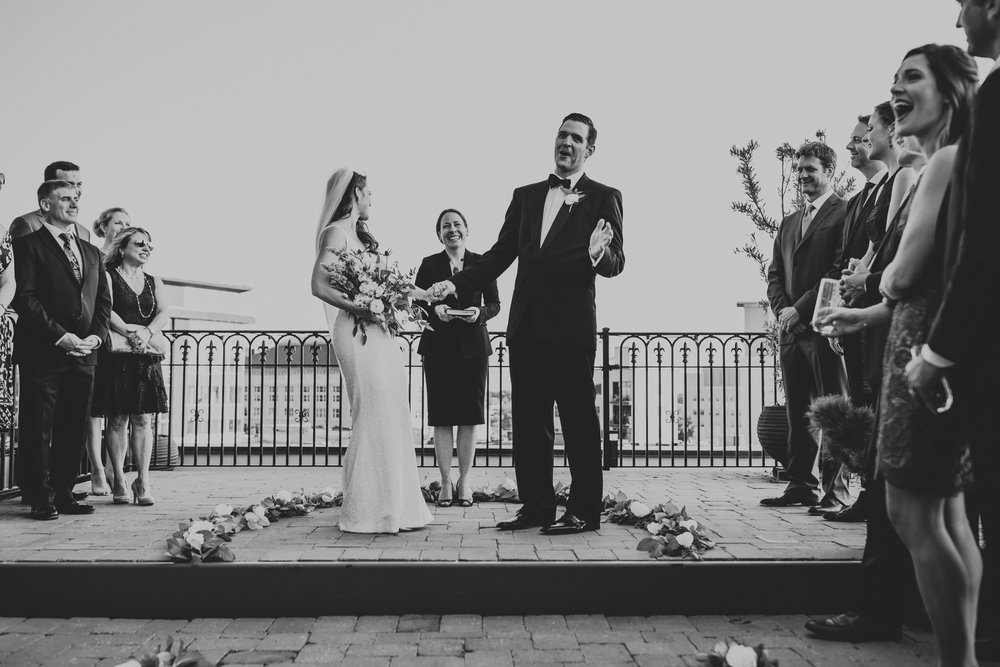Rooftop wedding raleigh nc