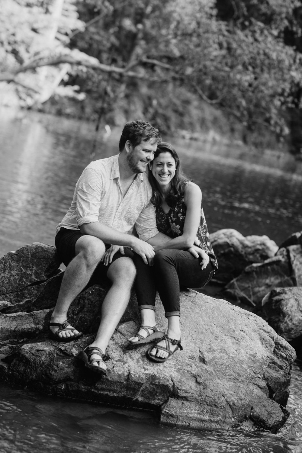 Eno River Engagement Photos