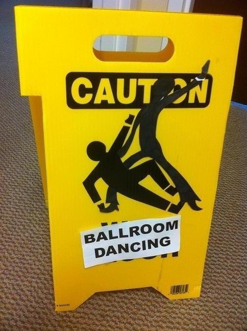 Change around some caution signs