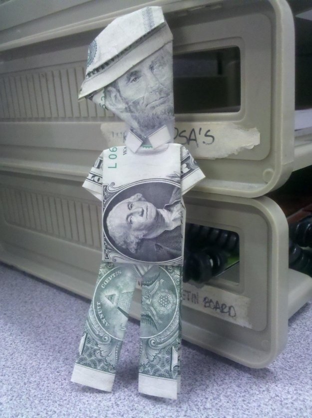 Make an Abe Lincoln out of money