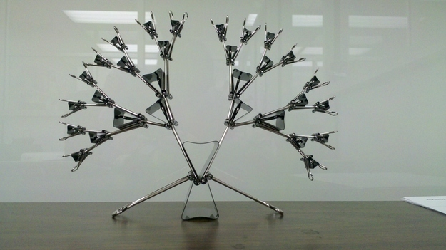 Or build this peaceful binder clip tree