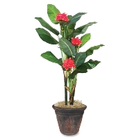 Artificial Flowering Banana Tree  ( pot  sold separately)