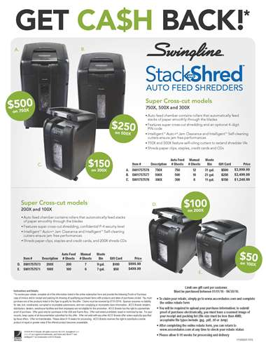Stack and Shred Cross-cut shredders