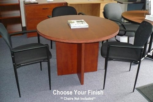 Round Conference Table Mahogany Office Express OEX - 36 conference table
