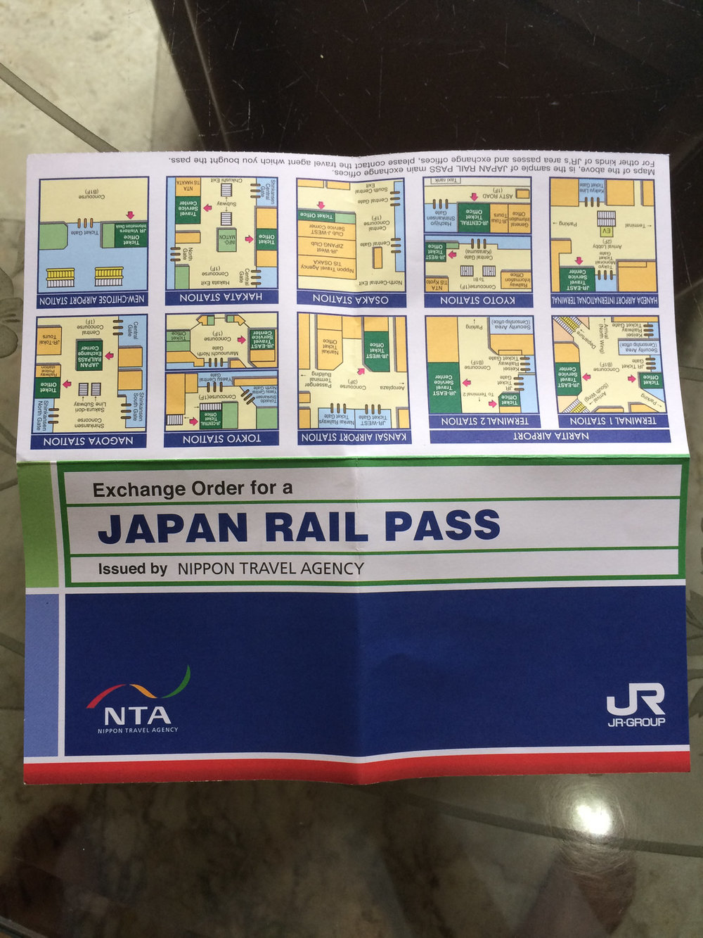 JR Pass Exchange Order