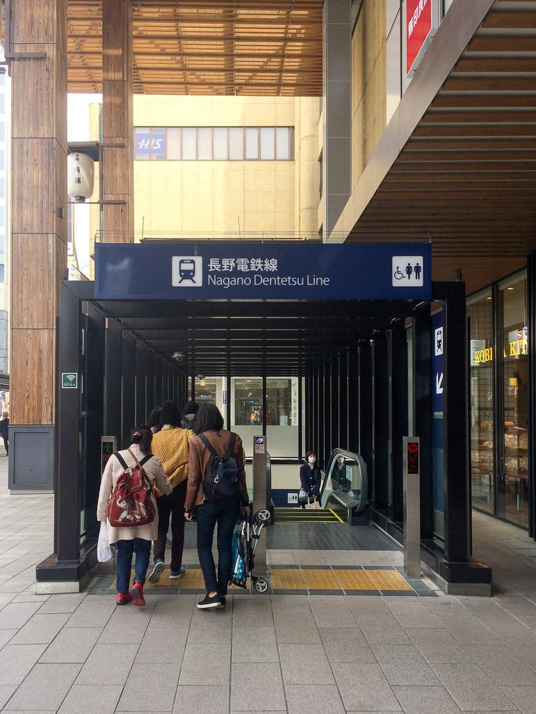Foto 3 - Eskalator Nagano Dentetsu Line