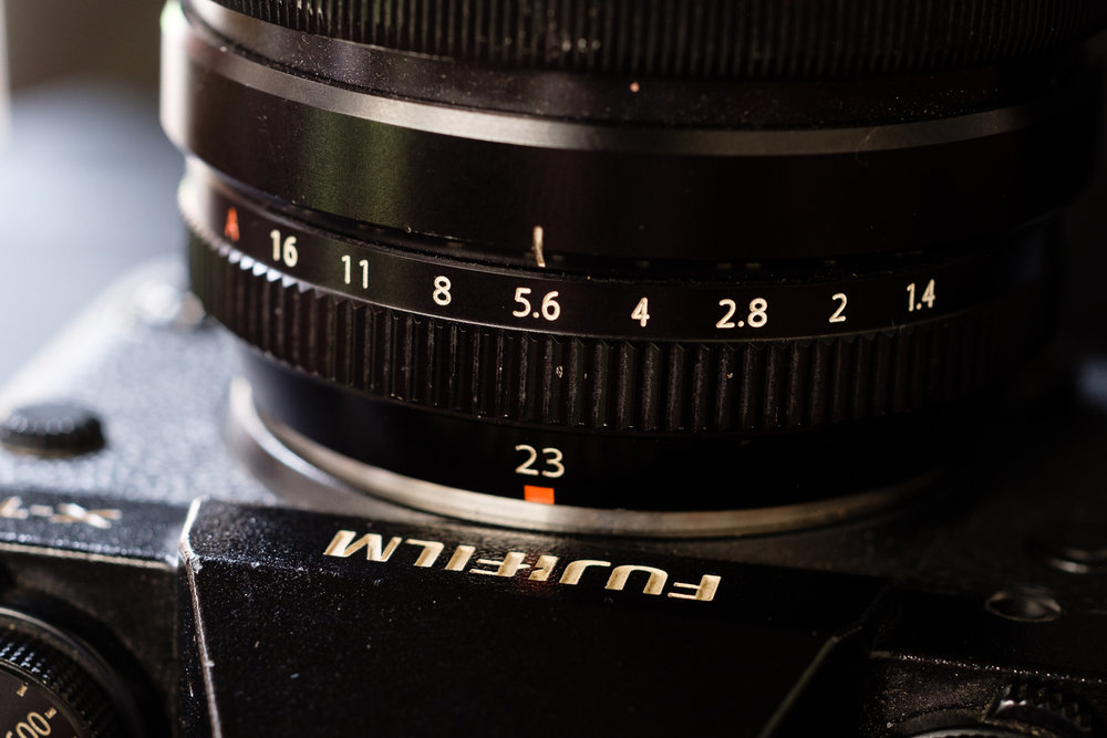 Aperture Ring pada lensa Fujinon XF 23 f/1.4