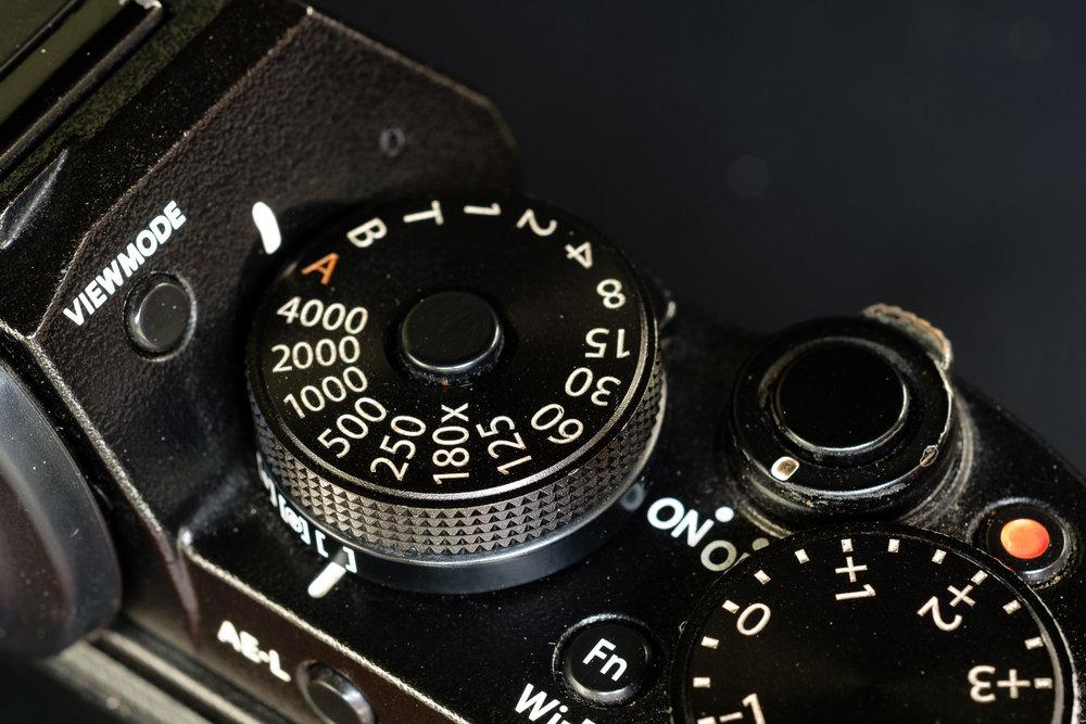 Shutter Speed Dial pada Fujifilm X-T1