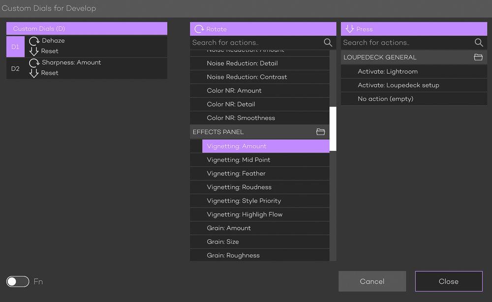 Menu pilihan untuk mengganti fungsi tombol sesuai dengan yang anda inginkan. Untuk mengaktifkan menu 'Fn' bisa dengan menekan tombol di kiri bawah.