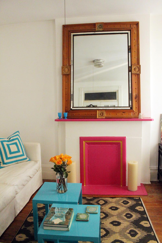 Pink Fireplace