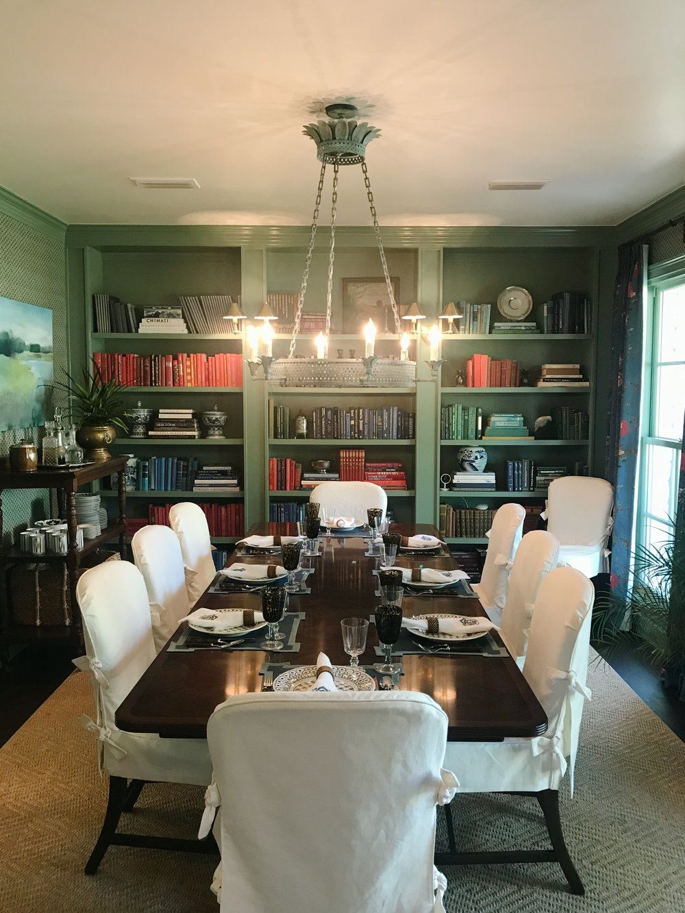 Avery Cox Design Blog: Southern Living 2018 Austin Idea House by Meredith Ellis, Green Dining Room