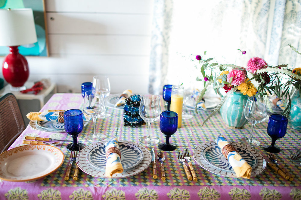 Avery Cox Design- Entertaining style, Austin Texas, table top decor, colorful, spring event.