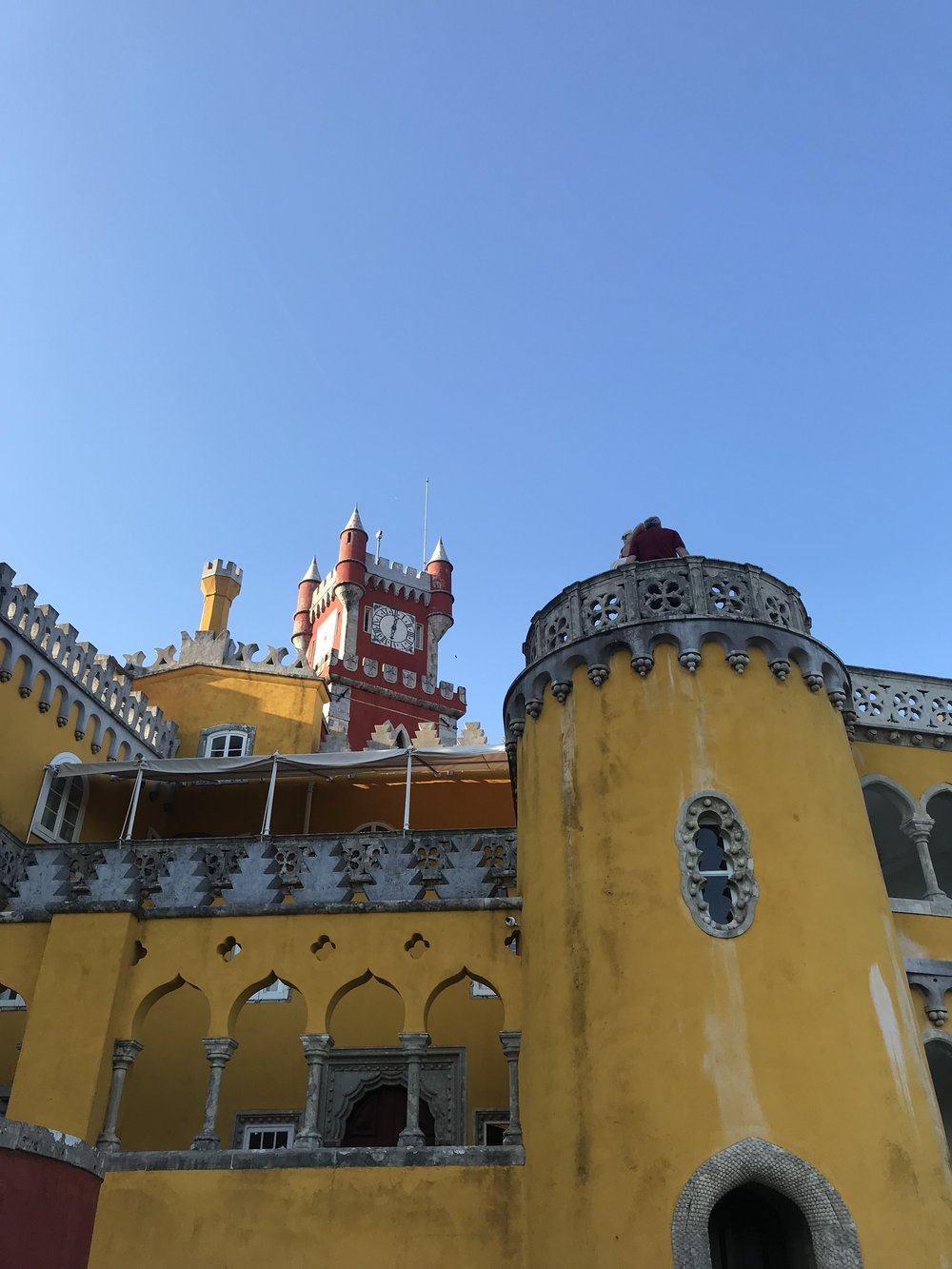 Sintra Portugal Saffron Yellow and Brick Red Pena Palace.jpg