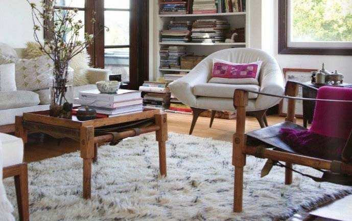 A vintage Maroc Tribal Beni Ouarain carpet