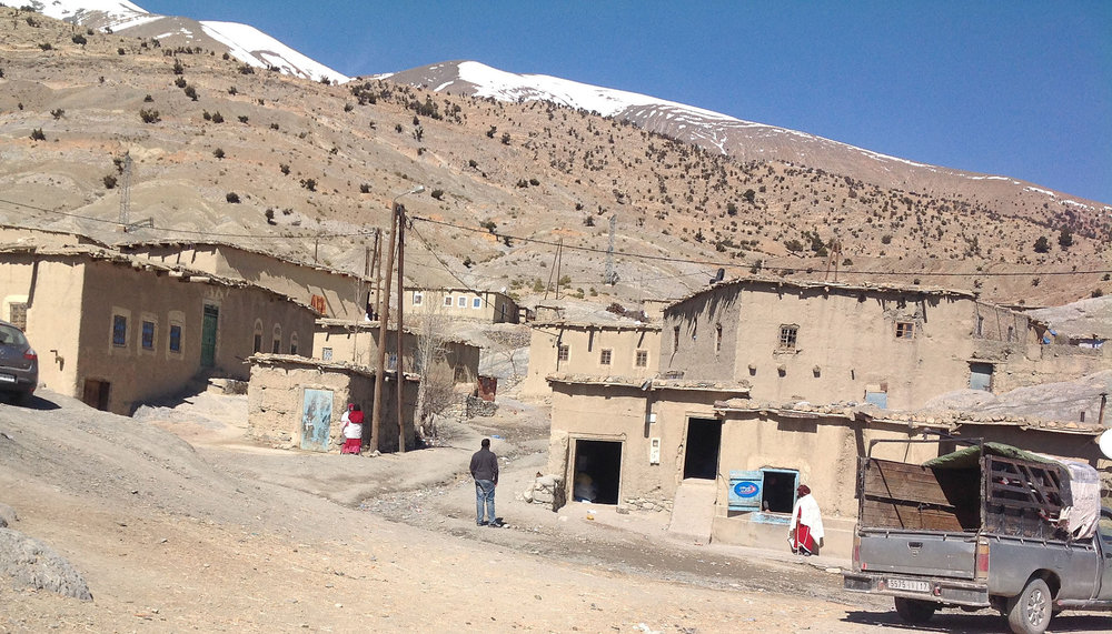 Getting ready to explore a small Berber village in the mountains