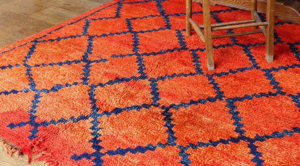 An old and original pure wool rug from our current collection