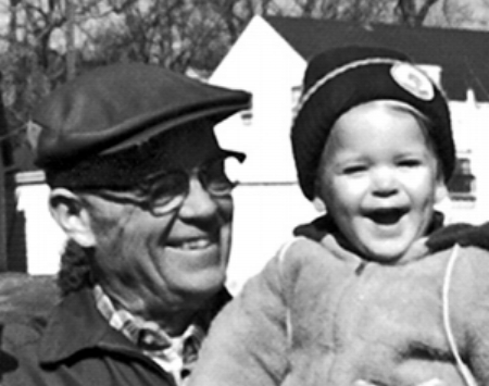 Carlyle with his grandson Karl