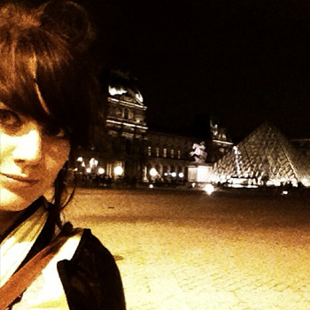 Selfie while biking around the Louvre at night. Clearly necessary.