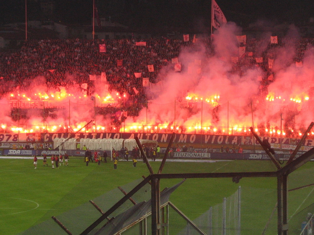Fiorentina, your fans are on fire. No...like. Literally.