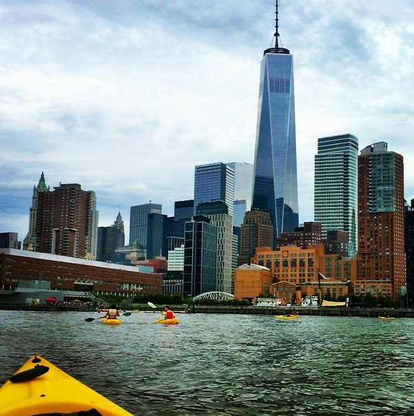 Lower Manhattan as seen from my kayak